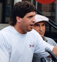 PETER McNEELEY AND MANAGER VINNIE VECCHIONE