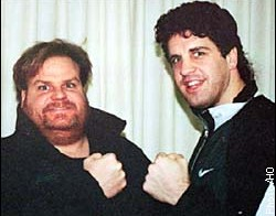 Peter McNeeley and Chris Farley