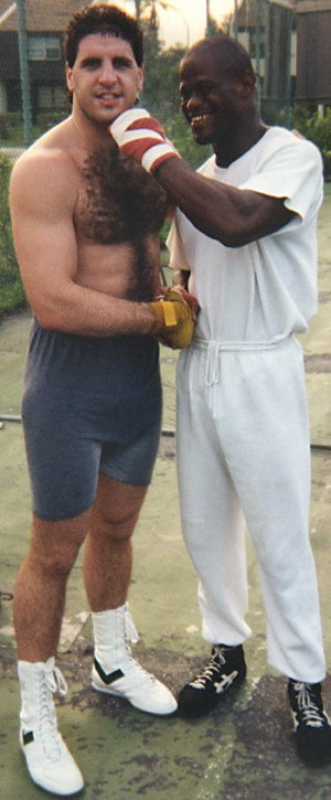 HEAVYWEIGHT BOXERS PETER McNEELEY AND GARING LANE