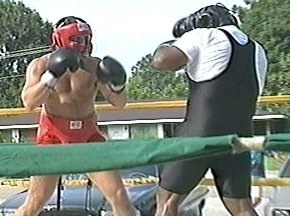 PETER McNEELEY SPARRING WITH GARING LANE - IMAGE #1