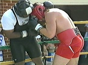 PETER McNEELEY SPARRING WITH GARING LANE - IMAGE #2