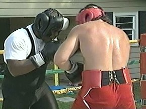 PETER McNEELEY SPARRING WITH GARING LANE - IMAGE #5