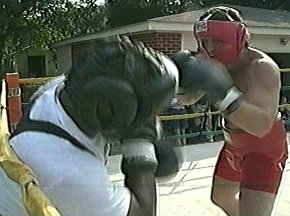 PETER McNEELEY SPARRING WITH GARING LANE - IMAGE #6
