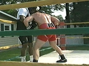 PETER McNEELEY SPARRING WITH GARING LANE - IMAGE #9