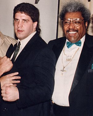 HEAVYWEIGHT BOXER PETER McNEELEY AND PROMOTER DON KING
