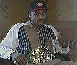 OLIVER McCALL SHOWS OFF HIS WBC BELT