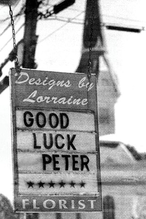 BANNER - GOOD LUCK PETER