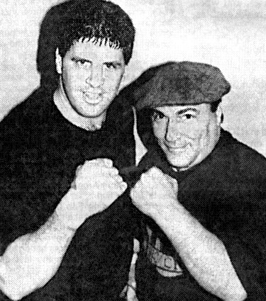 BOXER PETER McNEELEY AND MANAGER VINNIE VECCHIONE