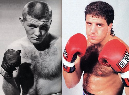 TOM AND PETER McNEELEY IN THEIR FIGHTING PRIMES