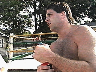Image: Pete standing outside an outdoor ring